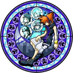 The World Ends With You kh stained glass