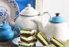 With a thick middle layer of peppermint goodness, this choc-mint slice is all things nice