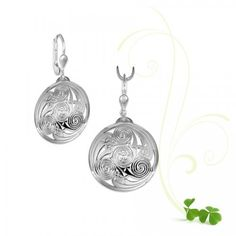Durrow Celtic Spiral Earrings