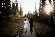 Mt Rainier sunset engagement Mountain Engagement Photos, Engagement Session, Couple Holding Hands, Seattle Wedding, First Photo, Sunset, In This Moment, Beautiful, Smoke