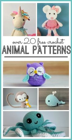 Animal Crochet Pattern - Page 2 of 20 - Sugar Bee Crafts