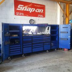 Tool Box Storage, Tool Organization, Garage Storage, Locker Storage, Garage Tools, Garage Shop, Shop Tool Boxes, Girl Closet, Mini Fridge