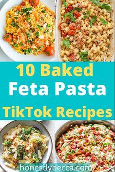 Baked Pasta Recipes, Pasta Dinner Recipes, Chicken Recipes, Feta Pasta, Spinach Pasta, Charred Broccoli, Baking With Honey, Tomato And Cheese, Mushroom Pasta