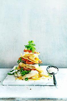 open lasagne met witte asperges enkrokante pancetta Fodmap Recipes, Pasta Noodles, Pasta Recipes, Italian Recipes, Asparagus, Good Food, Yummy Food, Great Recipes, Food Porn