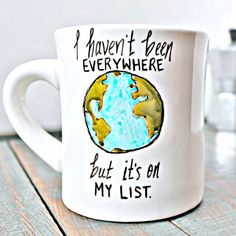 Funny Mug coffee tea cup diner mug black white earth globe travel literature quote literature sontag kitchen by KnotworkShop on Etsy Travel Literature, Literature Quotes, Cute Mugs, Funny Mugs, Funny Coffee, Coffee Cups, Tea Cups, Coffee Coffee, Morning Coffee