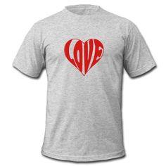 Love in shape of Heart T-Shirt