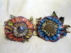 painted blooms and beads bracelets by Mandy Russell