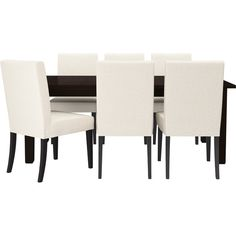 IKEA STORNÄS/ HENRIKSDAL Table and 6 chairs, brown-black, Linneryd... (1,385 CAD) ❤ liked on Polyvore featuring home, furniture, tables, dining tables, dining, interior, black lacquer dining table, extendable table, butterfly leaf table and extension tables