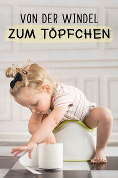 Trocken- und Sauber werden: So gelingt das Töpfchentraining garantiert. #Baby #Kleinkind #Töpfchen #Windel