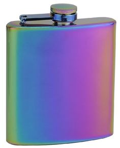 NEW Light 30 Watt Colege Blue /& Silver Booze Liquor Flask Stainless Steel 8 oz