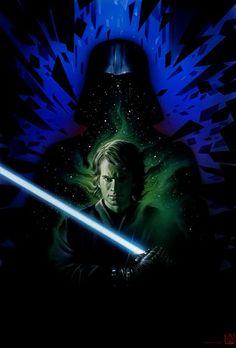 Galaxy Fantasy: Fan art: Un volcán marcó el principio de Darth Vader y el fin de Anakin Skywalker
