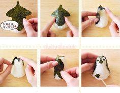 Punch Sushi Rice Ball Mold Bento Diy Tool Penguin Shape