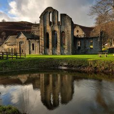 valle crucis abeey. Wales.