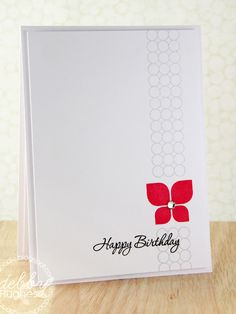 Debby Hughes creates a gorgeous clean and simple card using three Maile Belles stamp sets from Papertrey Ink