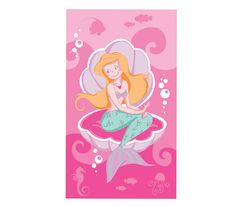 Πετσέτα θαλάσσης παιδική Mermaid από 100% βαμβάκι. Cinderella, Disney Characters, Fictional Characters, Mermaid, Disney Princess, Art, Art Background, Kunst, Performing Arts
