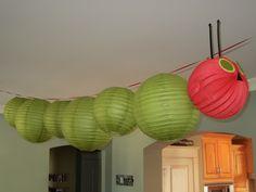 Very Hungry Caterpillar baby shower- lantern caterpillar.