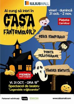 "De Halloween, Iulius Mall il invita pe copiii sa se distreze in ""Casa Fantomelor"""
