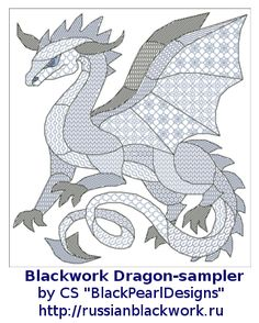 Russian Blackwork: Blackwork Dragons-2012                                                                                                                                                                                 More