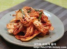 칼국수집 배추겉절이 만드는 방법 *^^* Korean Food Side Dishes, South Korean Food, K Food, Food Menu, Korean Food Kimchi, Paleo Menu, Daily Meals, I Love Food, No Cook Meals