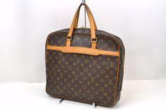 Authentic Louis Vuitton Porte Documents Pegase Bag Monogram Canvas Business Hand