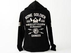 New Japan Pro-Wrestling - Bullet Club Zip Hooded Parker Jacket Japan Pro Wrestling, Wrestling Shirts, Aj Styles Tna, Wwe, Parker Jacket, Professional Wrestling, Club, Hooded Sweatshirts, Hoods