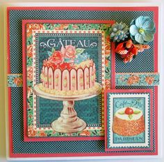 Graphic 45 has recently released this new paper named Café Parisian.   Today Iwould like to share two cards I have made with this range. ...