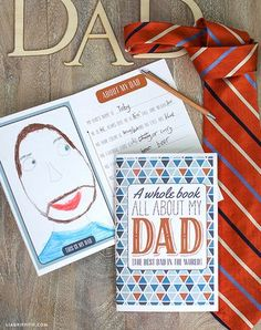 Sweet gift idea for Dad for Father's Day, free printable interview book for your kids