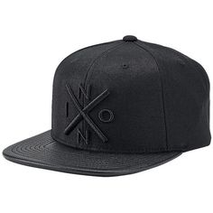 Nixon Exchange Snapback Hat ($30) ❤ liked on Polyvore featuring men's fashion, men's accessories, men's hats and mens snapback hats