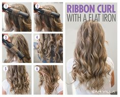 Irron Curl with a flat iron