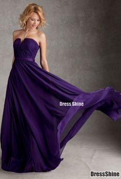purple bridesmaid dress..so cute and looks comfortable too!