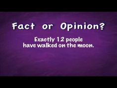 www.grammarheads.com  Educational music video about telling the difference between facts and opinions.  Great for the elementary school classroom!  Visit our website to download this video and more.