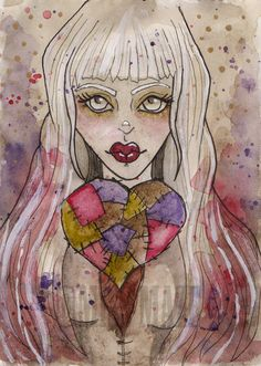 Patchwork Heart by Miss Maze on Etsy.