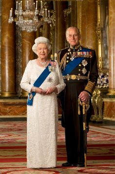 An official Diamond Jubilee portrait of Her Majesty The Queen and HRH Prince Philip.© Crown Copyright Taken in Buckingham Palace