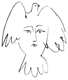 """felixinclusis: """" blushingcheekymonkey: pablo picasso - la visage de la paix (1953) """""""