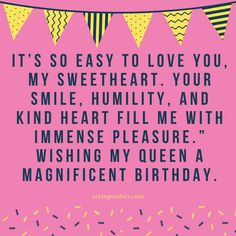 Long Distance Birthday wishes for Wife, Girlfriend to send on Facebook, Whatsapp. Romantic, cute, Happy Birthday wishes for her with images, pics #happybirthday #wife #love #birthdaywishes