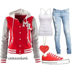Shoes and jeans haha cute sporty outfits, outfits with converse, sporty gir Casual Sporty Outfits, Outfits With Converse, Comfortable Outfits, Cute Outfits, Fall Outfits, Red Converse, Casual Jeans, Sport Outfits, Trendy Outfits