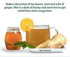 Herbal cold remedy Lemon ginger & honey are amazing for bad colds