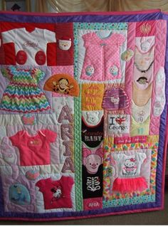 baby's first clothes quilting idea
