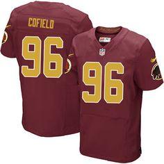 01fa8c0ac Men Nike Washington Redskins  96 Barry Cofield Elite Burgundy Red Number  Alternate 80TH Anniversary NFL