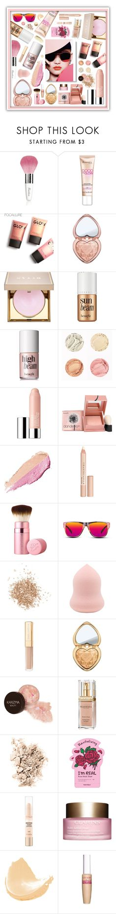 """Glowing blush"" by beanpod ❤ liked on Polyvore featuring Guerlain, Rimmel, Too Faced Cosmetics, Stila, Benefit, Clinique, By Terry, Chantecaille, GlassesUSA and Topshop"