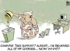 Computer Tech Support humor at it's best Computer Humor, Computer Help, Funny Jokes, Funny Stuff, Funny Things, Nerd Stuff, Nerd Jokes, Jokes Quotes, Comics