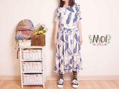 Moi 風格服飾自然文青植物花洋裝