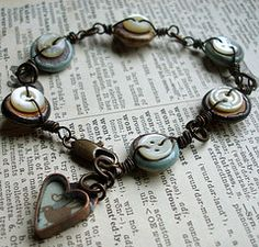 Button Bracelet.... @Laura Jayson Jayson Jayson Van Orden it is you who has a lot of buttons right?