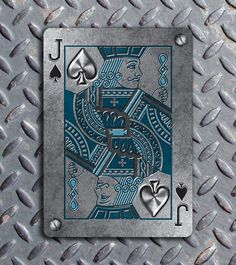 Bicycle Metal Deck - Jack of Spades | more here: http://playingcardcollector.net/2014/10/02/bicycle-metal-deck-by-max/