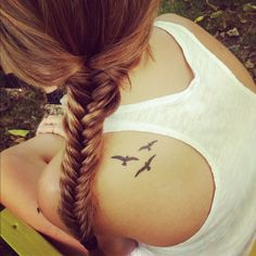 If I'm getting a tattoo, it will be either birds on the shoulder, or on the foot.