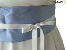 Seidengürtel  für die Braut in Blau von alw-design auf DaWanda.com