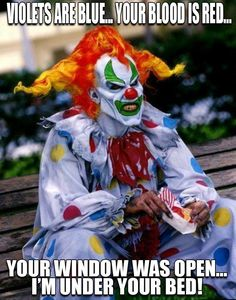 This is Jack the Clown from Universal Studios Halloween Horror Night! I saw his show and I loved it!