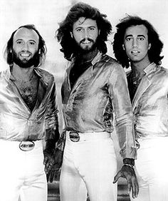 BeeGees- Maurice, Barry, and Robin Gibb Hahahahha! This is it, the tall one and I just talked Mike into growing a beard!!!