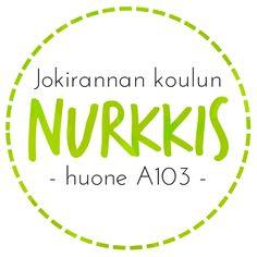 Jokirannan koulun Nurkkis - nuoppari keskellä koulua. Kuva: Minna. Company Logo, Logos, Logo