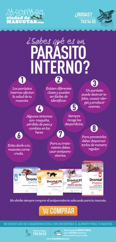 Los parásitos internos afectan a tus mascotas causando muchas veces enfermedades y condiciones peligrosas para su salud.
